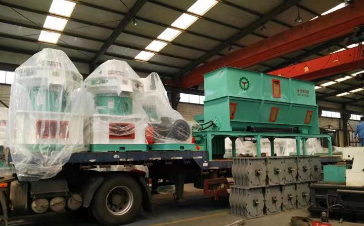 河北邯郸时产2-3吨生物质颗粒机生产线设备