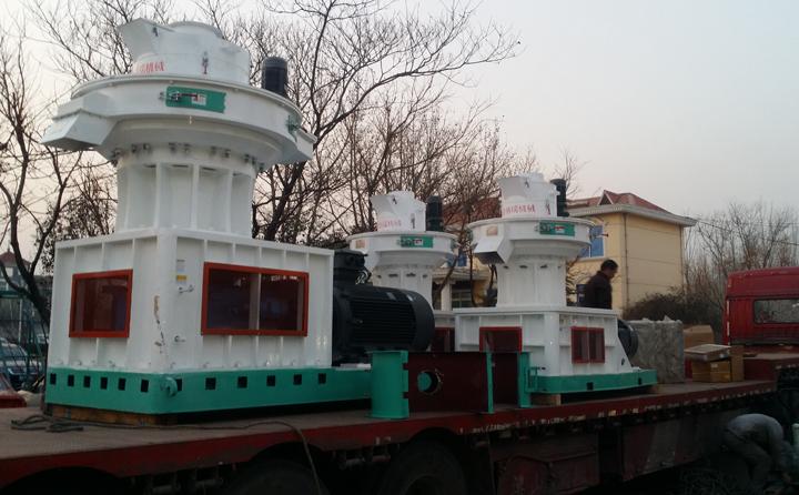 3台560生物质燃料颗粒机发往江苏徐州